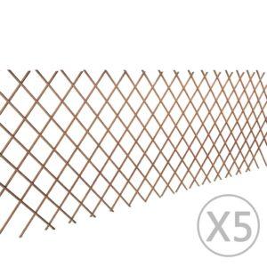 5x Rankgitter Weide Spalier Rankhilfe Gitter 90 x 180 cm
