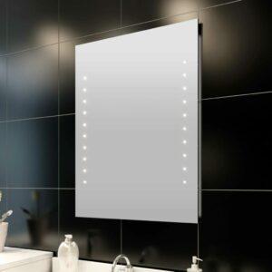 Badspiegel mit LED-Leuchten 50×60 cm