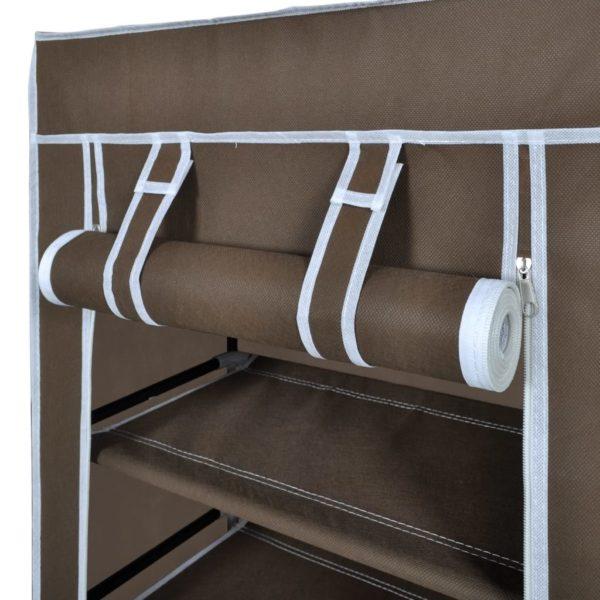 Schuhschrank Schuhregal Schuhablage 5 Schicht 58 x 28 x 106 cm Braun