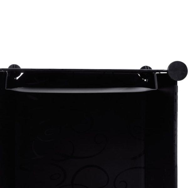 Modularer Schrank mit 9 Fächern 37×115×150 cm Schwarz und Weiß