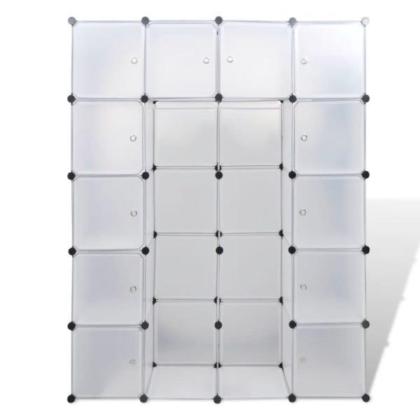 Modularer Schrank mit 14 Fächern weiß 37 x 146 x 180,5 cm