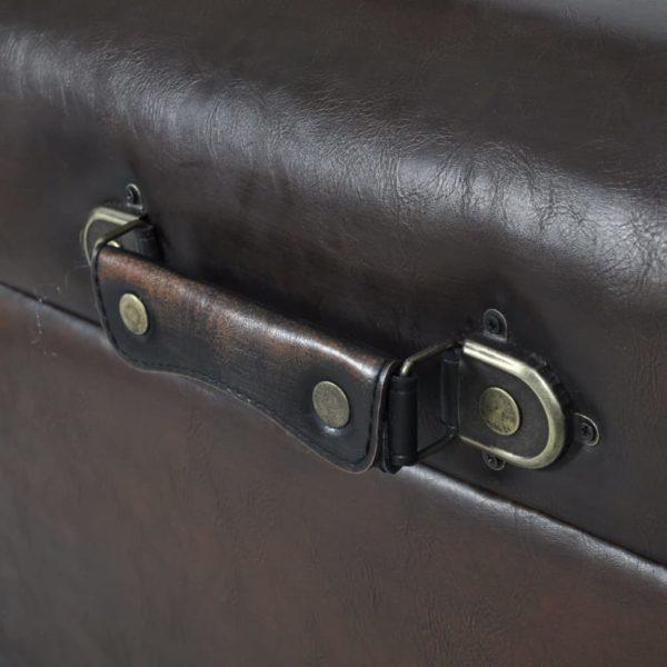 Sitztruhen-Set 3-tlg. Braun