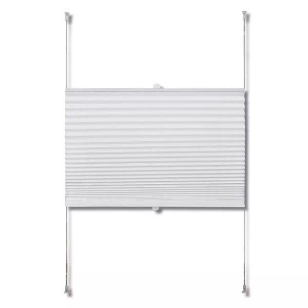Verdunklungsplissee 40×100 cm Weiß