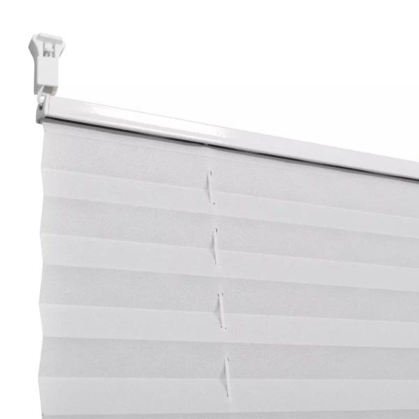 Plissee Faltrollo Rollo Jalousie Plisseerollo klemmen 40x200cm Weiß