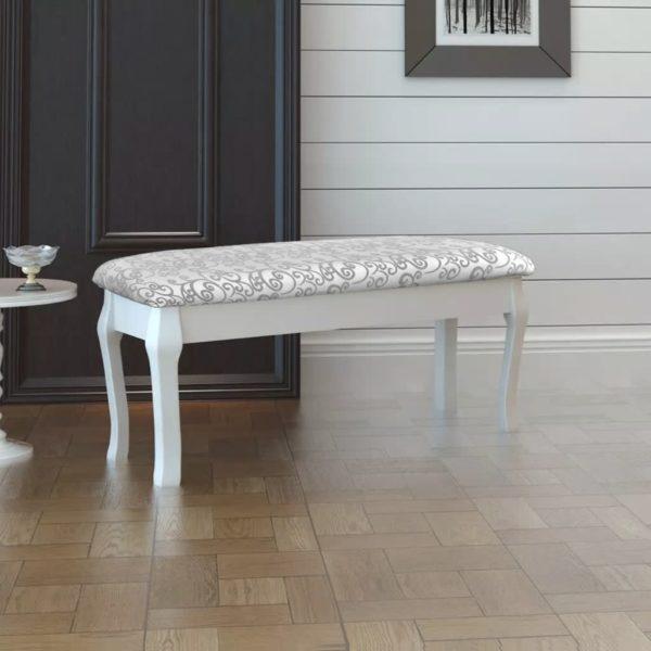 Doppelbank Polsterbank Klavierbank weiß 110cm