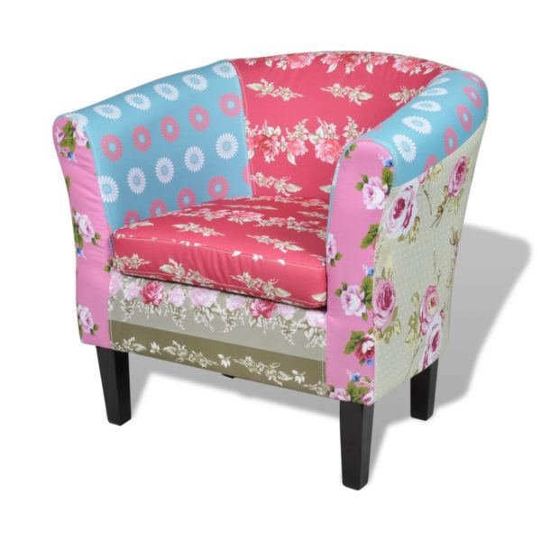 Sessel mit Patchwork-Design Stoff
