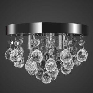 Kronleuchter Deckenleuchte Kristall Design Lüster Chrom