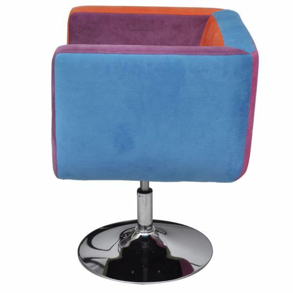 Würfel-Sessel mit Patchwork-Design Stoff
