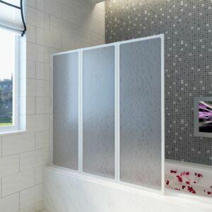 Badewannen Faltwand Duschabtrennung 117 x 120 cm