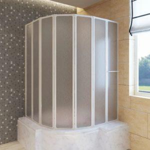 Duschwand Duschabtrennung 140 x 168 cm 7 Faltwände