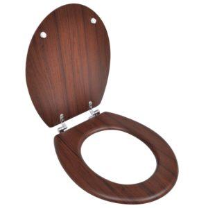 Toilettensitz MDF Deckel Schlichtes Design Braun