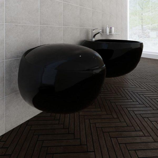 Wand-Hänge WC Toilette+Hänge Bidet+WC-Sitz