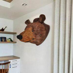 Bärenkopf Wanddekoration Natürlich