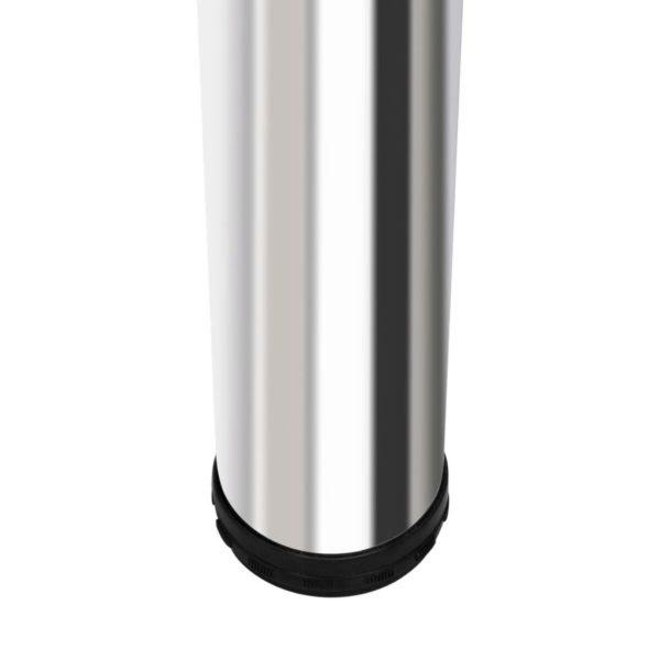 Bartisch mit 2 Stahlbeinen MDF Hochglanz Weiß
