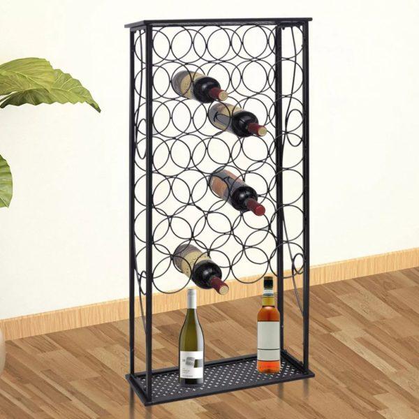 Flaschenregal für 28 Flaschen Metall