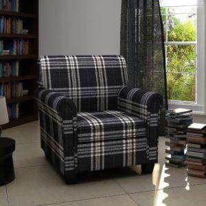 Sessel mit Sitzpolster Schwarz Stoff