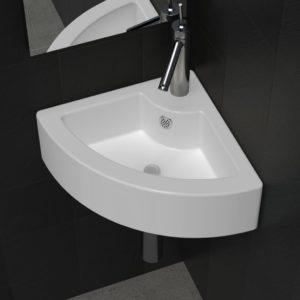 Waschbecken mit Überlauf 45 x 32 x 12,5 cm Weiß
