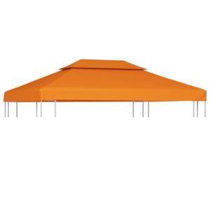 Pavillon-Dachplane Ersatzdach 310 g/m² Terracotta-Rot 3×4 m