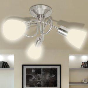 Deckenleuchte mit Glas-Lampenschirmen für 3 E14 Glühlampen
