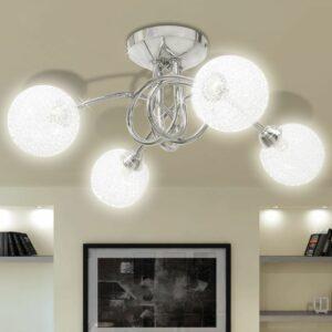 Deckenleuchte mit Drahtgeflecht-Lampenschirme 4 × G9 Glühlampen