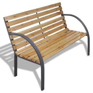 Gartenbank 120 cm Holz und Eisen
