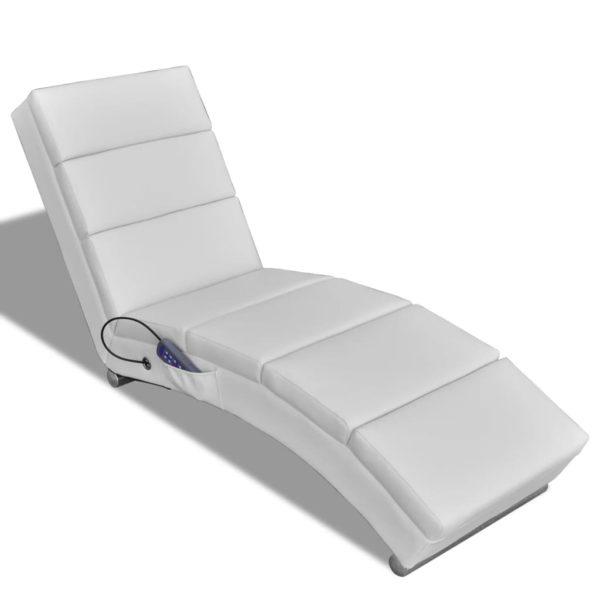Massagesessel Weiß Kunstleder