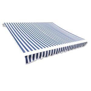 Markisenbespannung Canvas Blau & Weiß 3 x 2,5 m (ohne Rahmen)