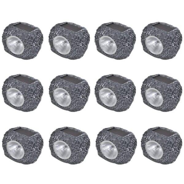12x LED Spotlight Lampe Leuchte Strahler Solar Steine