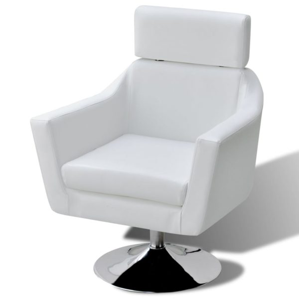 Fernsehsessel Weiß Kunstleder