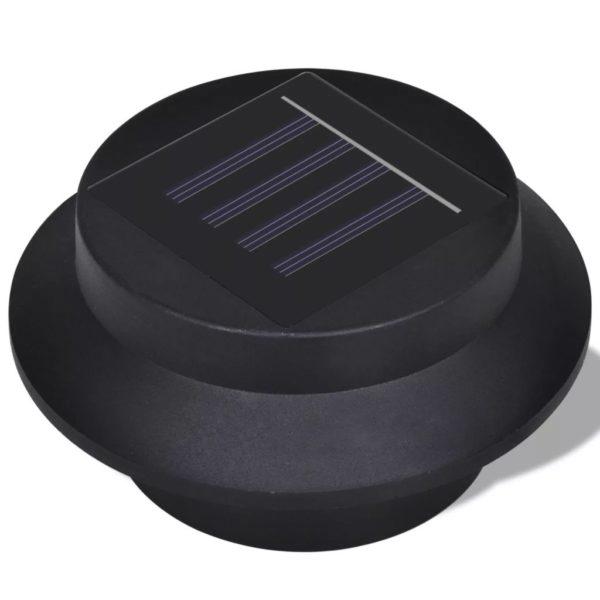 6x Außenlampe Sonnenlichtset Zaunlicht Schwarz