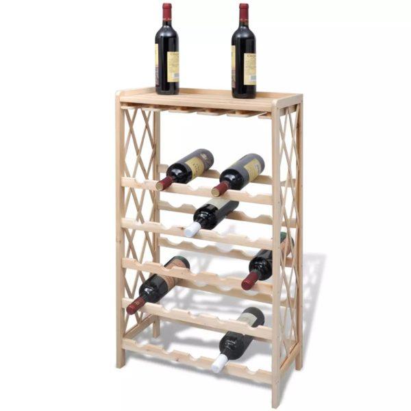 Weinregal für 25 Flaschen Tanne Massivholz