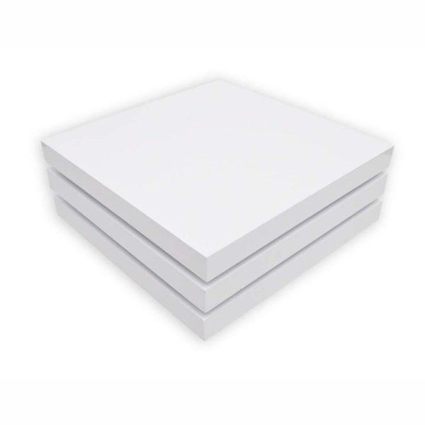 Couchtisch 3 Ebenen Hochglanz Weiß