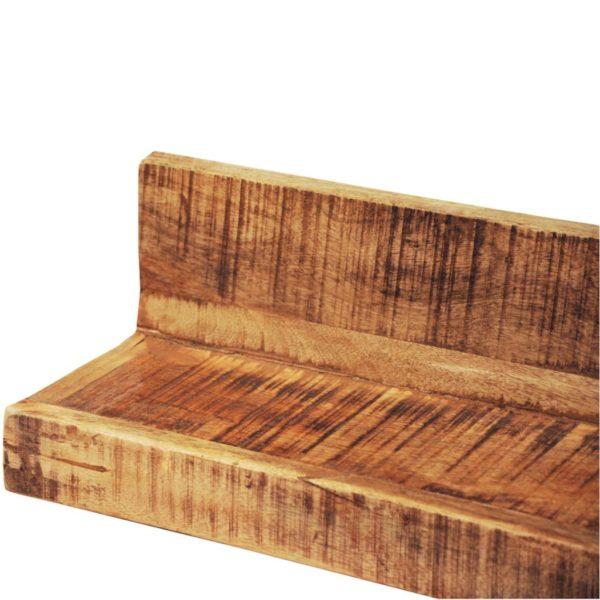 Solider Holz Mit Wandhalterung Anzeigeregal 2 Stk.