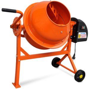 Betonmischer Elektrisch 63 L 220 W Stahl Orange