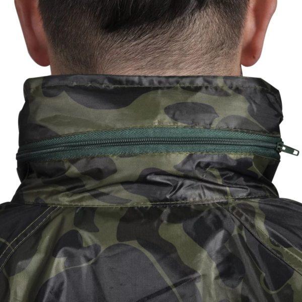 Tarnfarben Regenbekleidung für Männer 2-teilig mit Kapuze Größe L