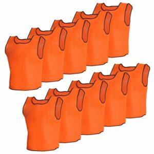 Orange Sportsshirts Sportweste für Kinder 10 Stück