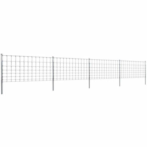 Gratenzaun Wildzaun mit Pfosten Verzinktes Eisen 50 m 100/8/30
