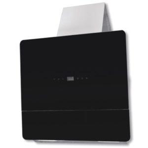 Abzughaube Dunstabzug Hartglas Schwarz mit Display 600 mm