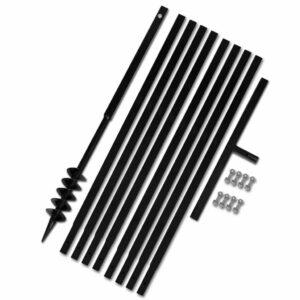 Erdbohrer mit Griff 80 mm Verlängerungsrohr 9 m