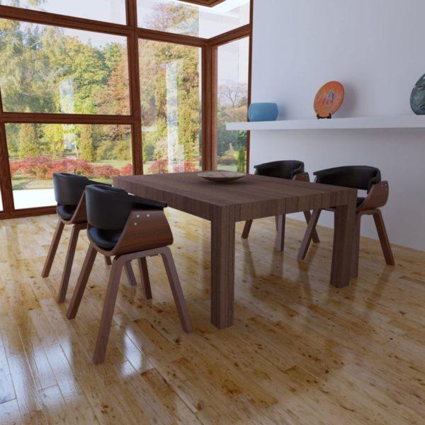 Esszimmerstühle 4 Stk. Bugholz und Kunstleder