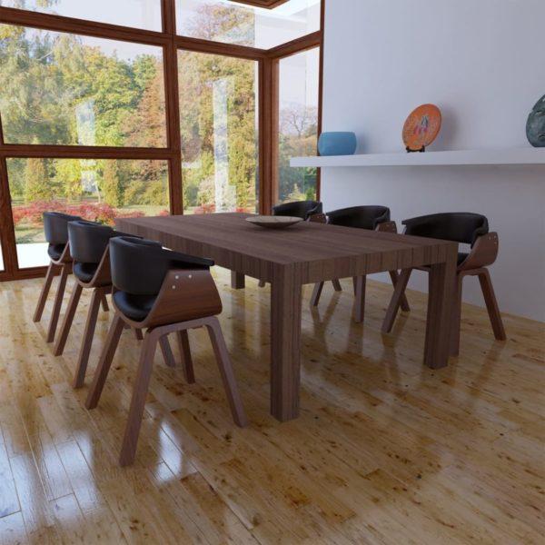 Esszimmerstühle 6 Stk. Bugholz und Kunstleder
