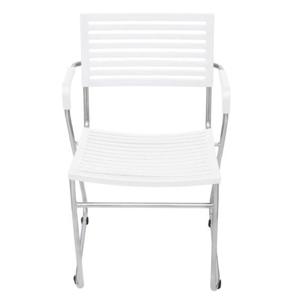 Stapelbare Esszimmerstühle 2 Stk. Weiß Kunststoff