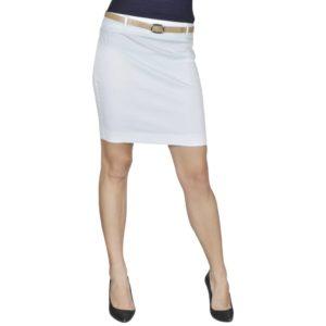 Minirock mit Gürtel Weiß Gr. 36