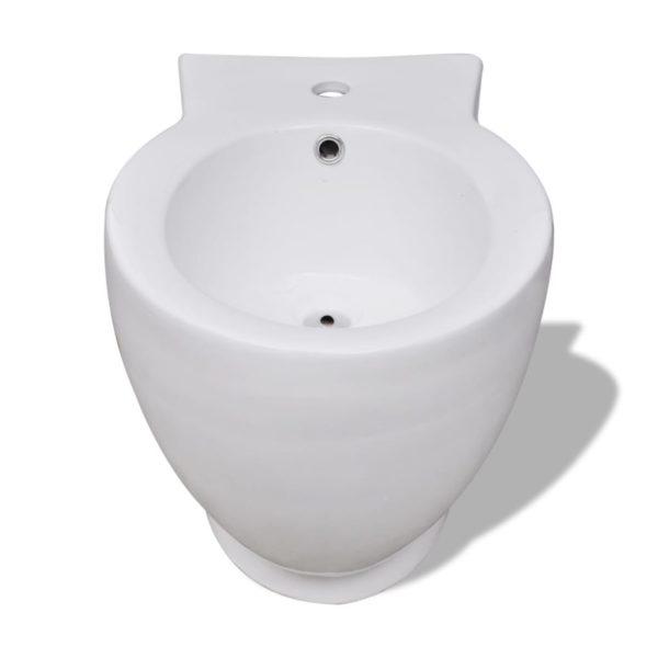 Keramik Toilette & Bidet Set weiß