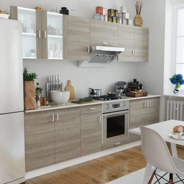 Küchenzeile 8-tlg. Eichen-Look
