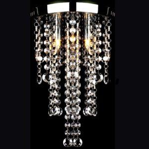 Hängelampe edle Deckenlampe mit transparenten Kristallperlen
