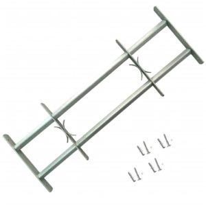 Fenstergitter Verstellbar mit 2 Querstäben 500-650 mm