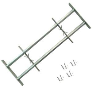 Fenstergitter Verstellbar mit 2 Querstäben 1000-1500 mm