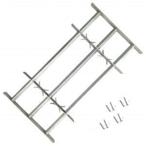 Fenstergitter Verstellbar mit 3 Querstäben 500-650 mm