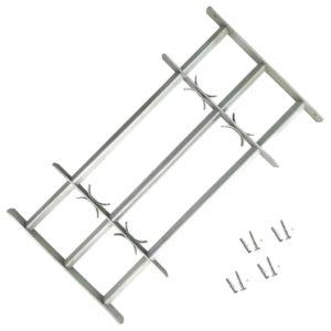 Fenstergitter Verstellbar mit 3 Querstäben 1000-1500 mm